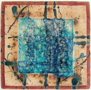 Keramikplatte mit Glas